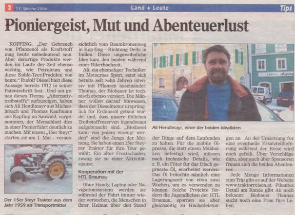 Tips :: 11. Woche 2006